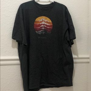 Columbia mountain scene tee
